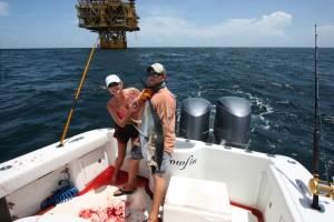 deep sea fishing view